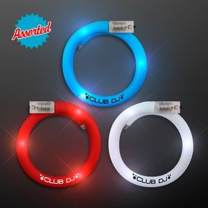 Flashing Tube Bracelets for 4th of July, Assorted Red, White & Blue