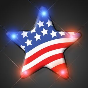 US Flag Star Light Pin